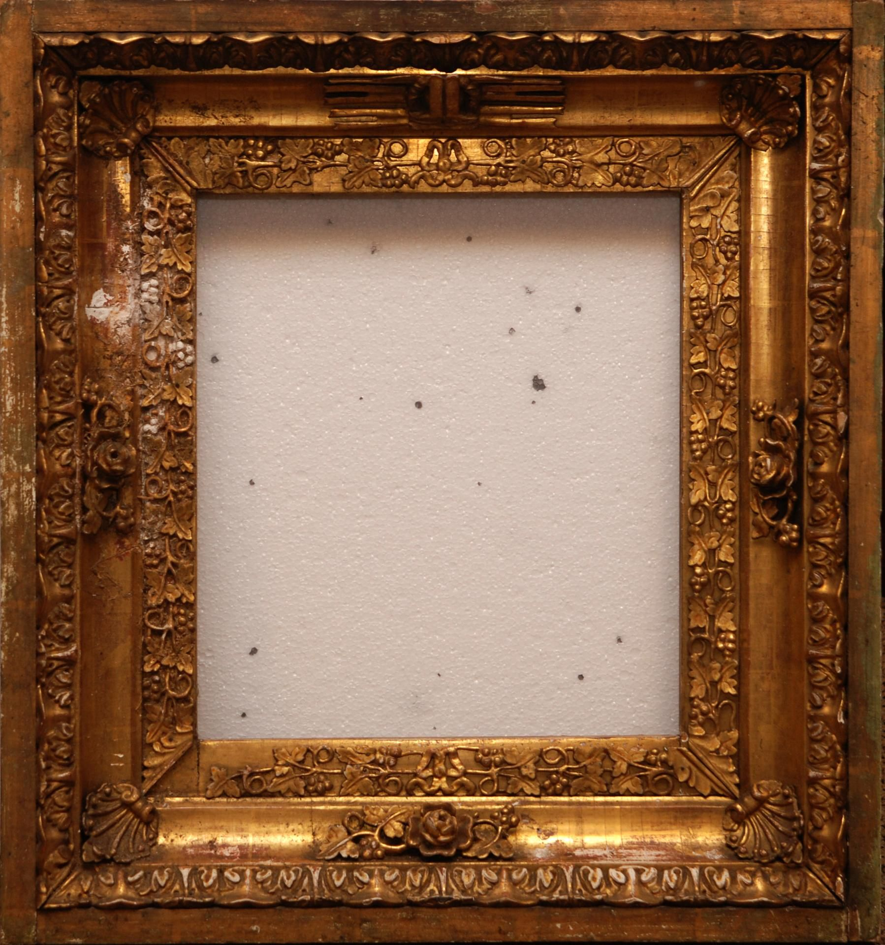 Antique Wooden Picture Frames | gilt wood grape cluster ...