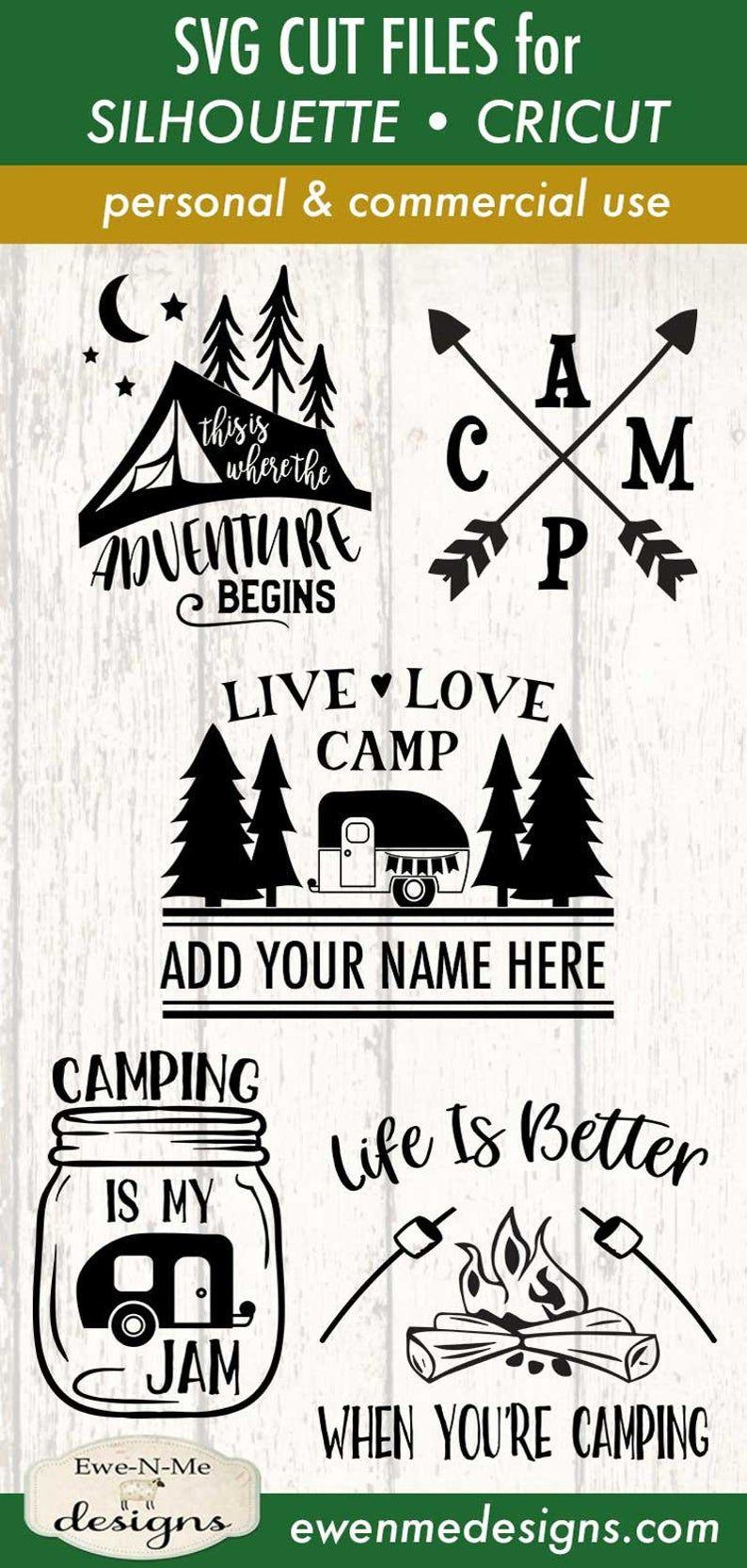 Camping SVG Bundle Camping Bucket svg Bundle Camper Tent