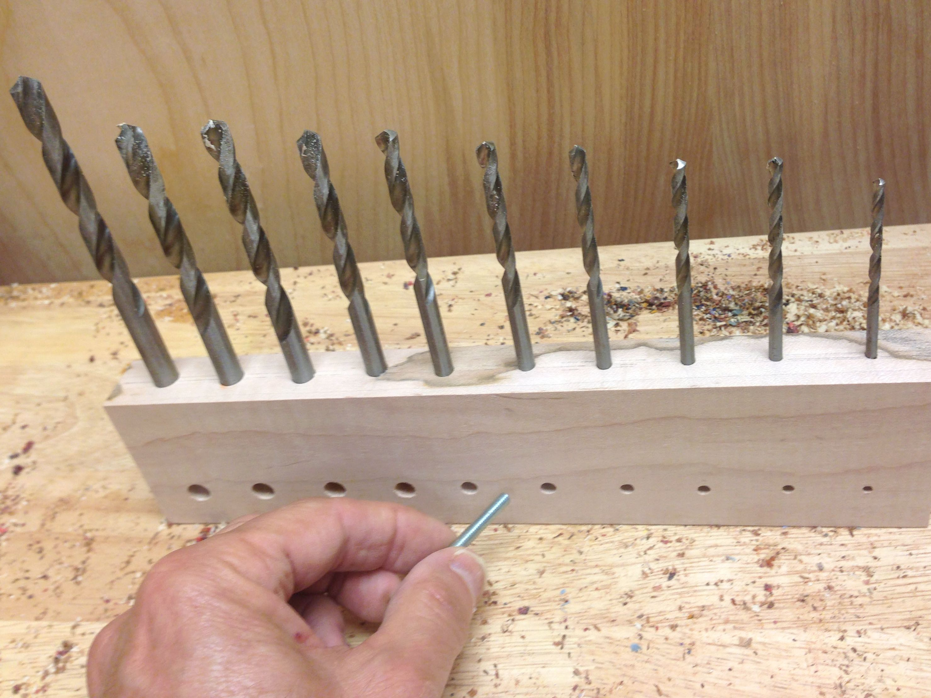 Select The Right Size Bit In A Jiffy Woodworking Shop Easy Woodworking Projects Woodworking
