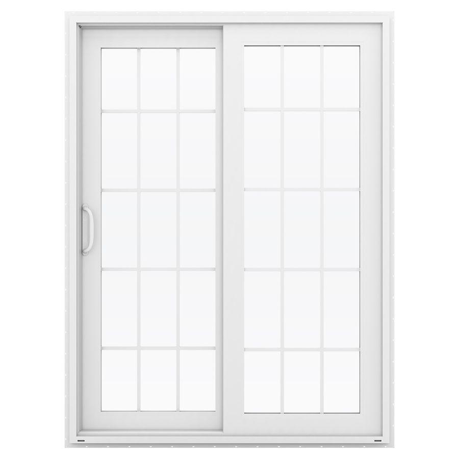 Jeld Wen V 4500 595 In 15 Lite Glass White Vinyl Sliding Patio Door