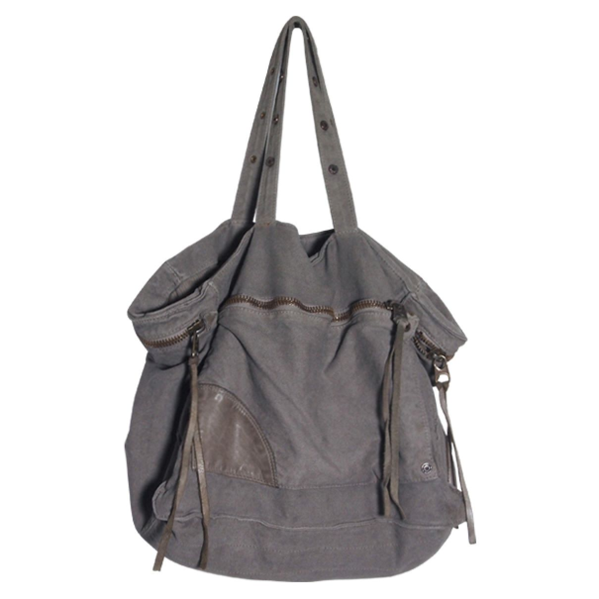 FOR SALE: Tote bag ZADIG & VOLTAIRE   leather & cotton, grey