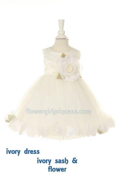 Flower Girl Dresses - Communion Dresses - Flower Girl Dresses Discount Cheap Designer Dressforless - CC1170 - Rose Petal Filled Flower Girl Dress 20 colors