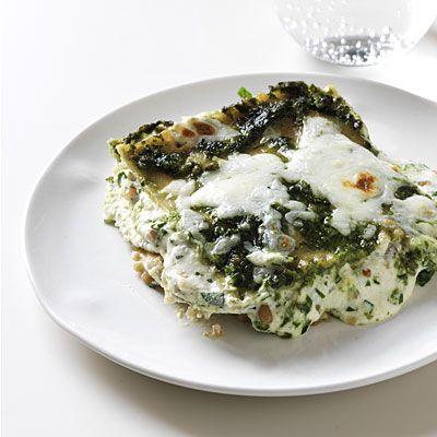 This is Bethenny Frankel's fave lasagna recipe! Pesto vegetarian lasagna