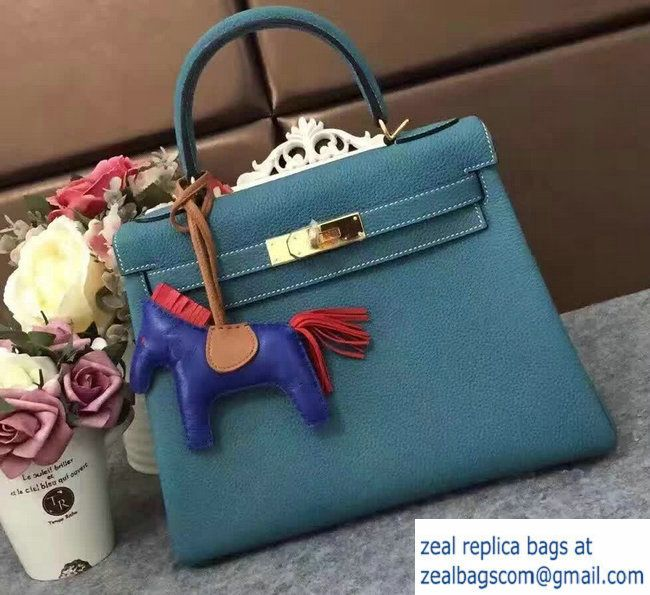 d32c267c1468 ... denmark hermes kelly 28cm 32cm bag in original togo leather denim blue  6eeb9 62dde