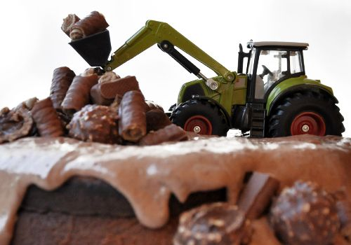 Bagger-Geburtstagskuchen von den Naturkindern Kuchen - geschenke f r die k che