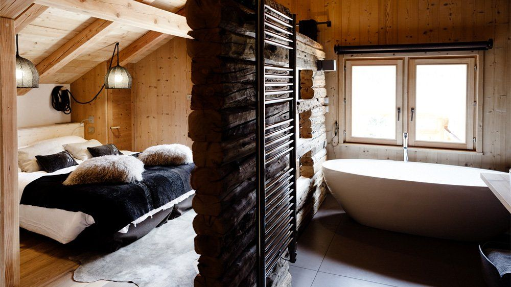Design pur au chalet belliou chambre decoration style for Deco chambre chalet montagne