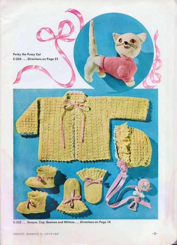 Vintage Crochet Booklet Knitting For Baby 50s Knitting Patterns PDF DIGITAL DOWNLOAD Book For Babies #bibsforbaby
