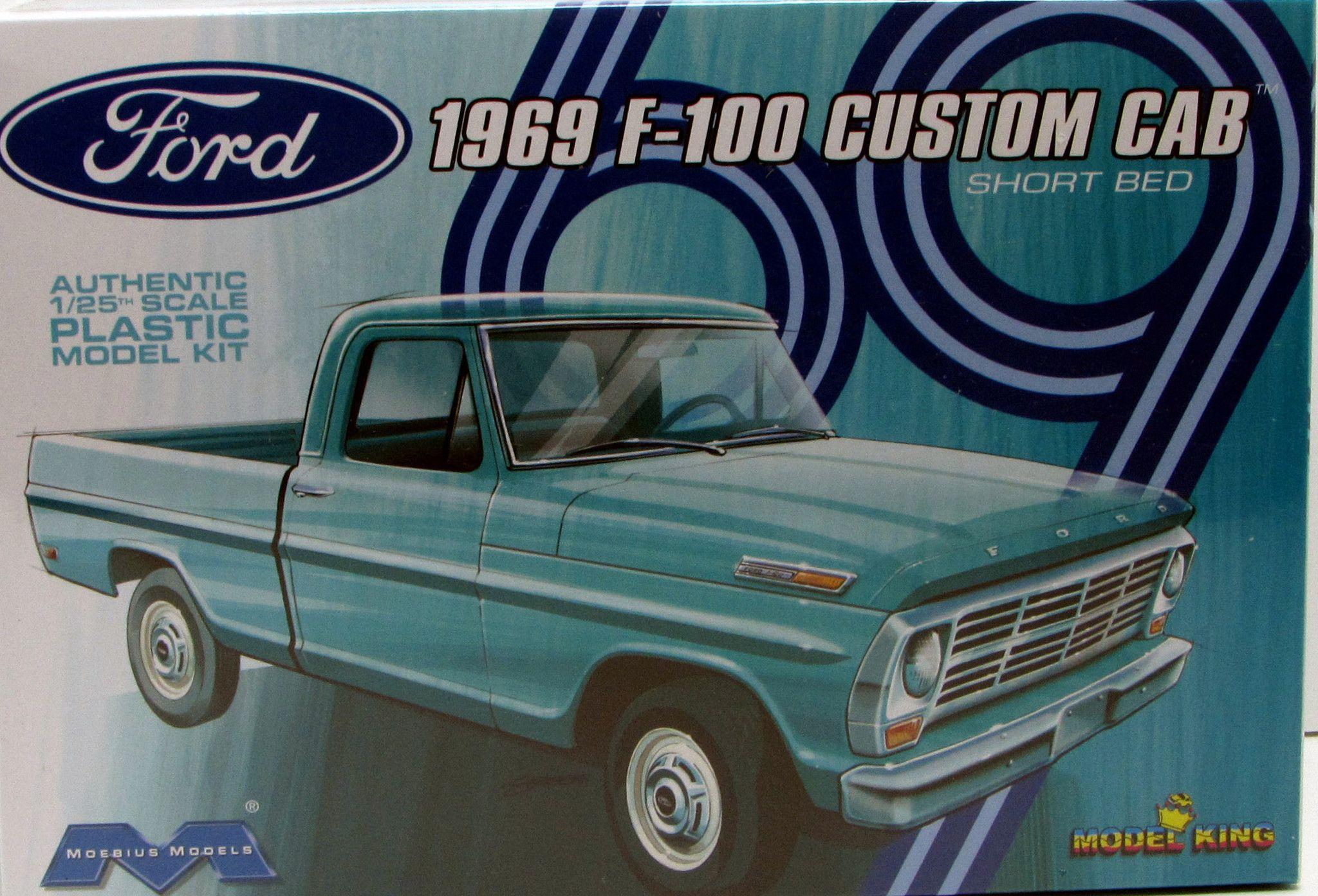 1969 Ford F 100 Pickup Moebius Models 1 25 New Truck Model Kit Model Truck Kits Plastic Model Kits Cars Model Cars Kits