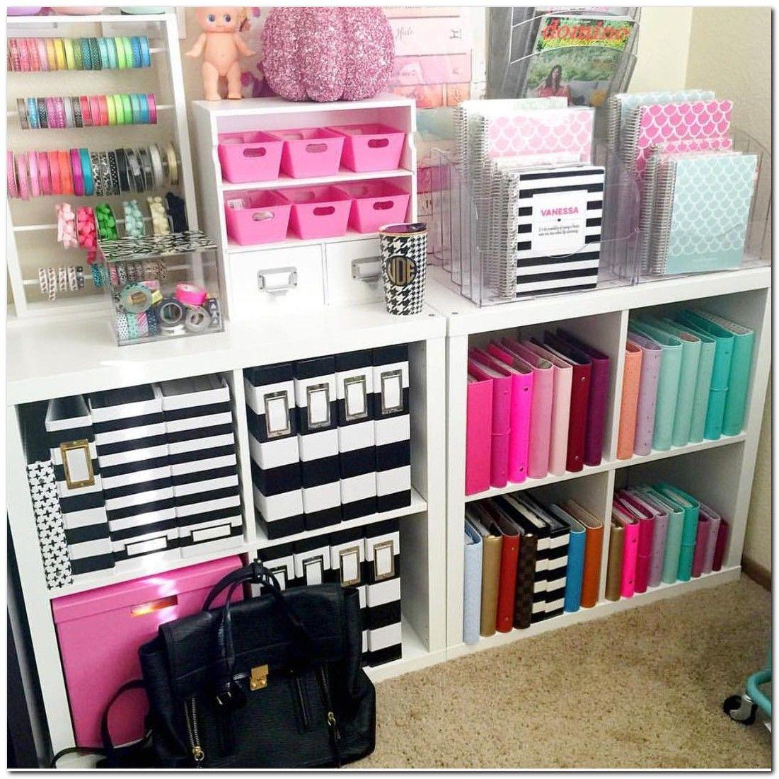 80+ Colorful Craft Room Decoration Ideas