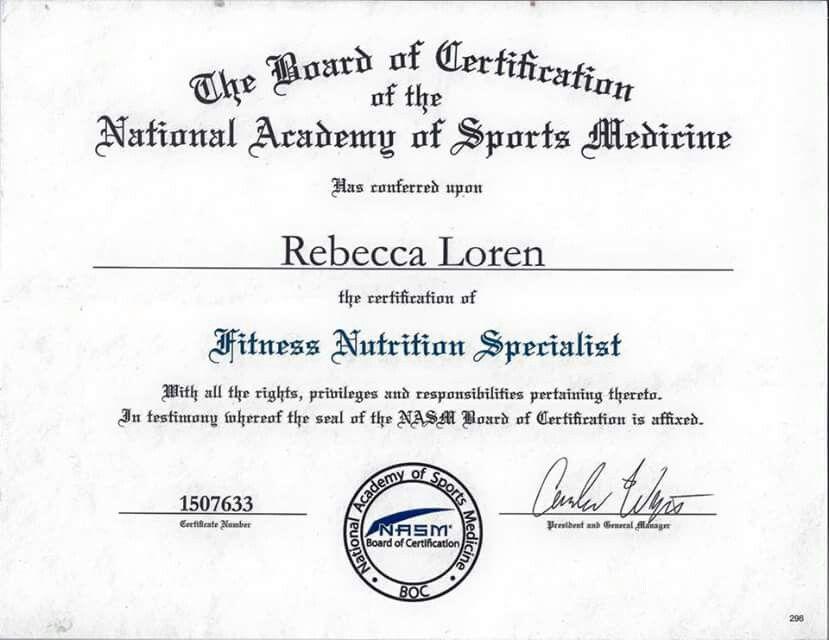 NASM Fitness Nutrition Specialist client results Pinterest - fresh hard drive destruction certificate template