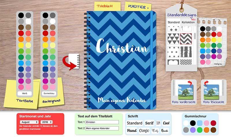 Kalender Selbst Gestalten   Umschlag Designen