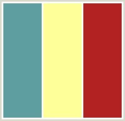 Yellow Walls, Red Couch, and teal and white accent colors! Perfect ...