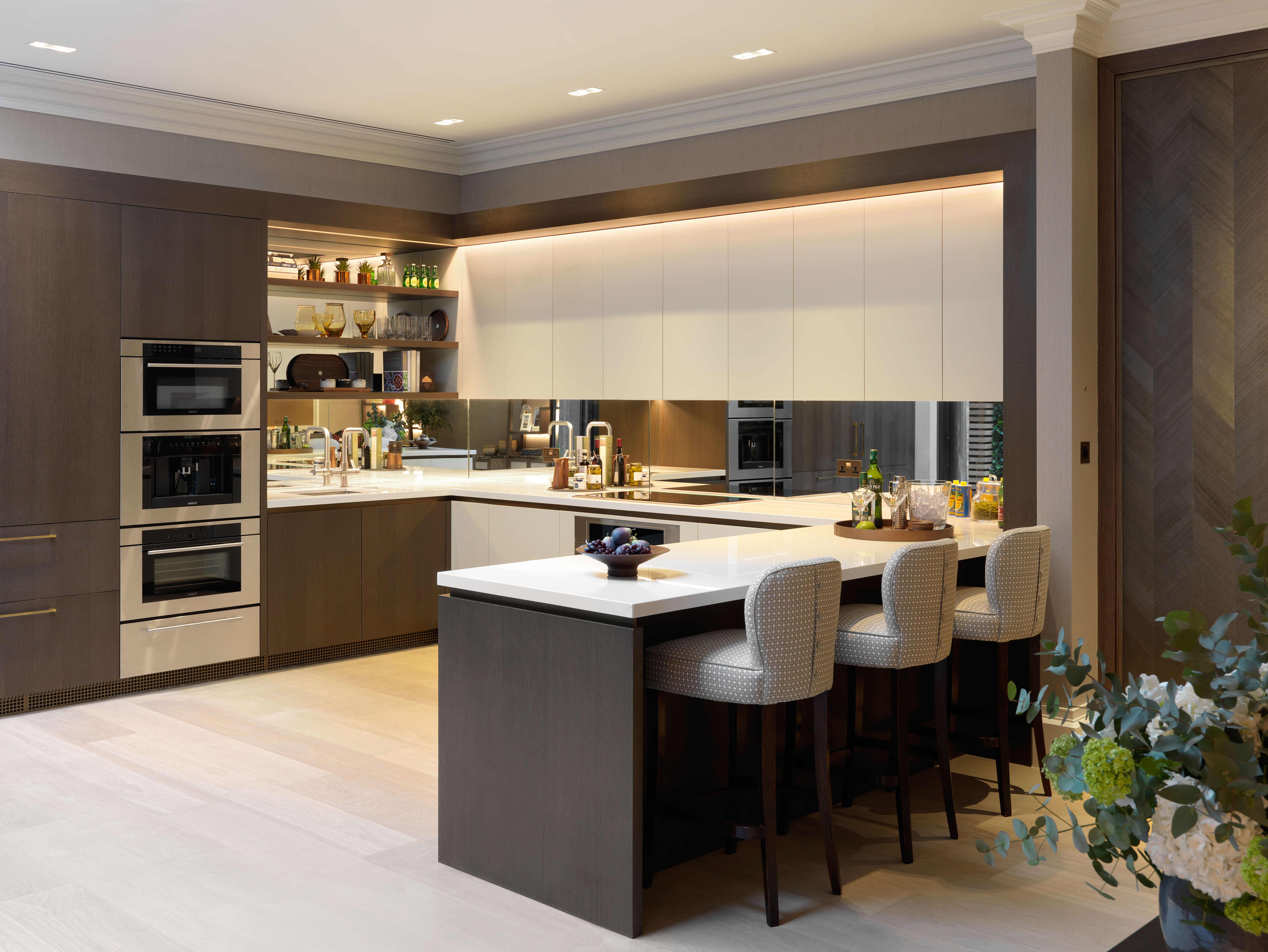 Modern Knightsbridge Kitchen contemporary kitchen interiors