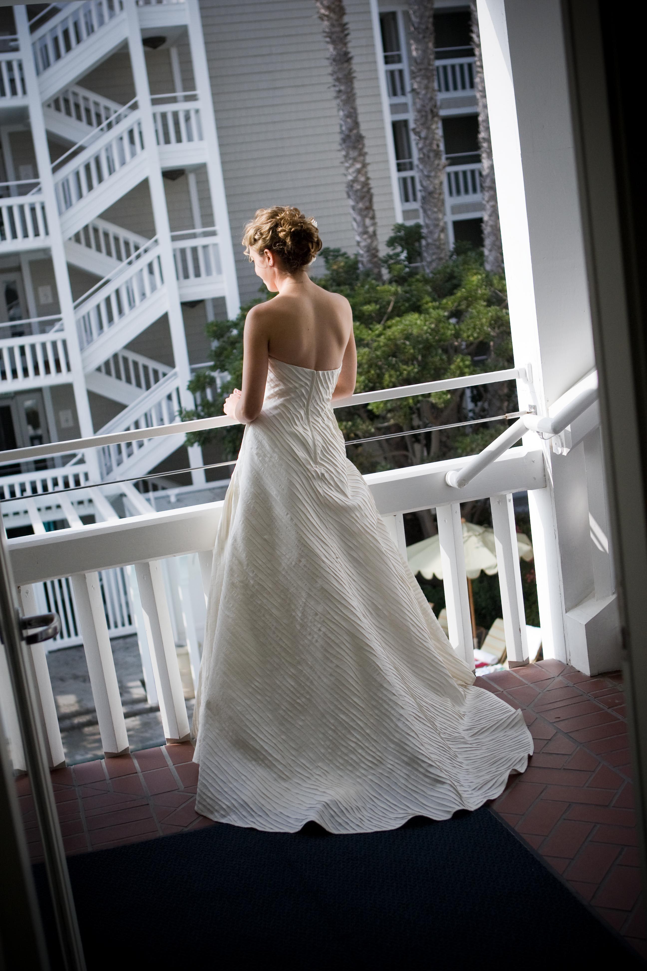 Wedding dress at luxury hotel Shutters on the Beach, Santa ...