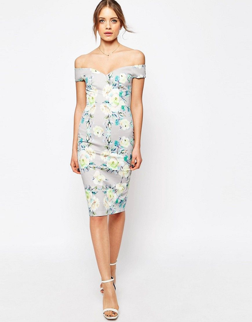 eb94a37503df0 Asos Salon Floral Embroidered Backless Pinny Midi Prom Dress Ebay ...