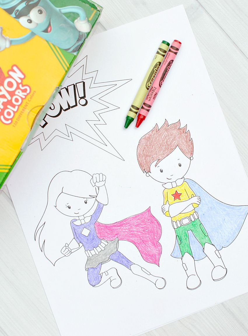 Free Printable Superhero Coloring Sheets for Kids | Pinterest ...