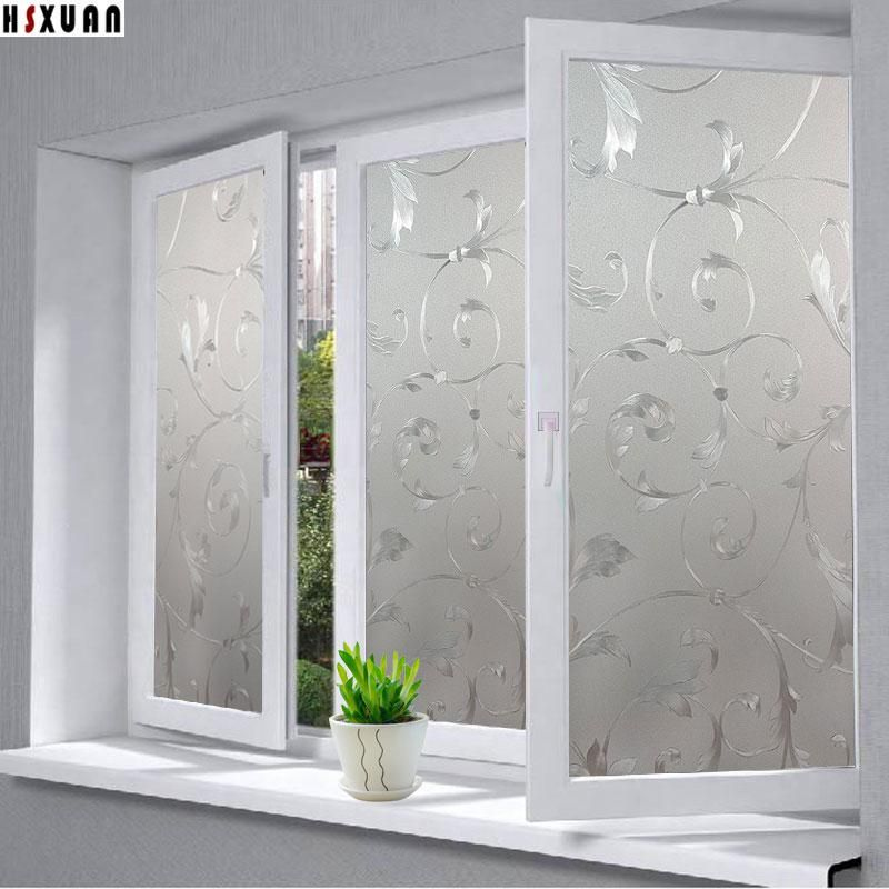 Window Privacy Films Pvc Premium No Glue 3d Flower Static Kitchen