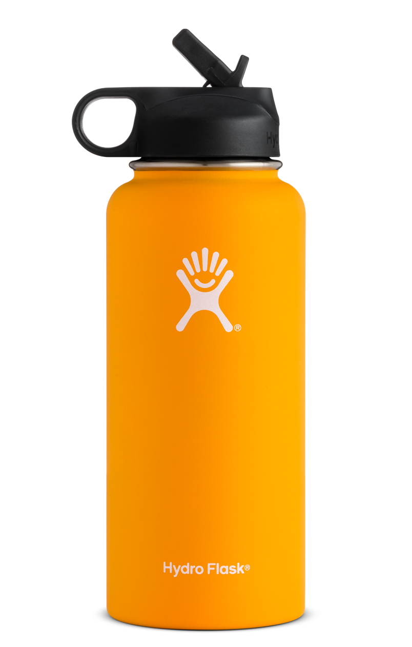 32 Oz Wide Mouth W Straw Lid Hydro Flask Water Bottle Water Bottle With Straw Wide Mouth Water Bottle