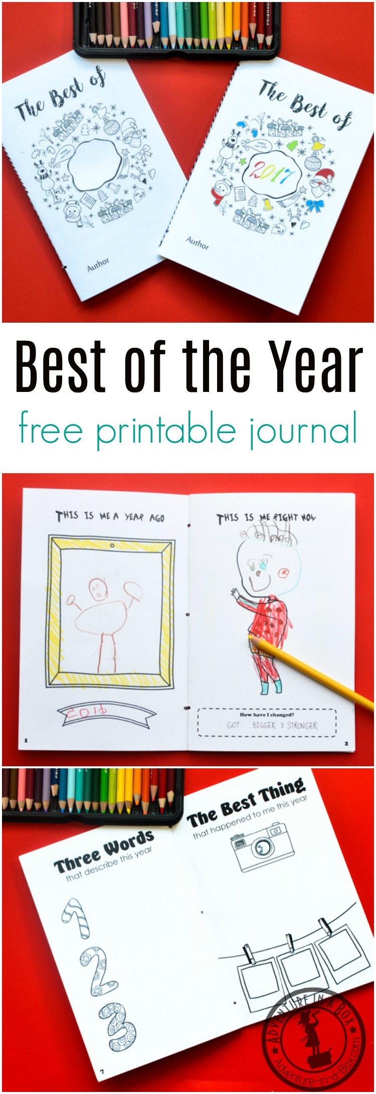 Best of the Year: Free Printable Journal for Kids to Fill on New Year's Eve | Adventure in a Box