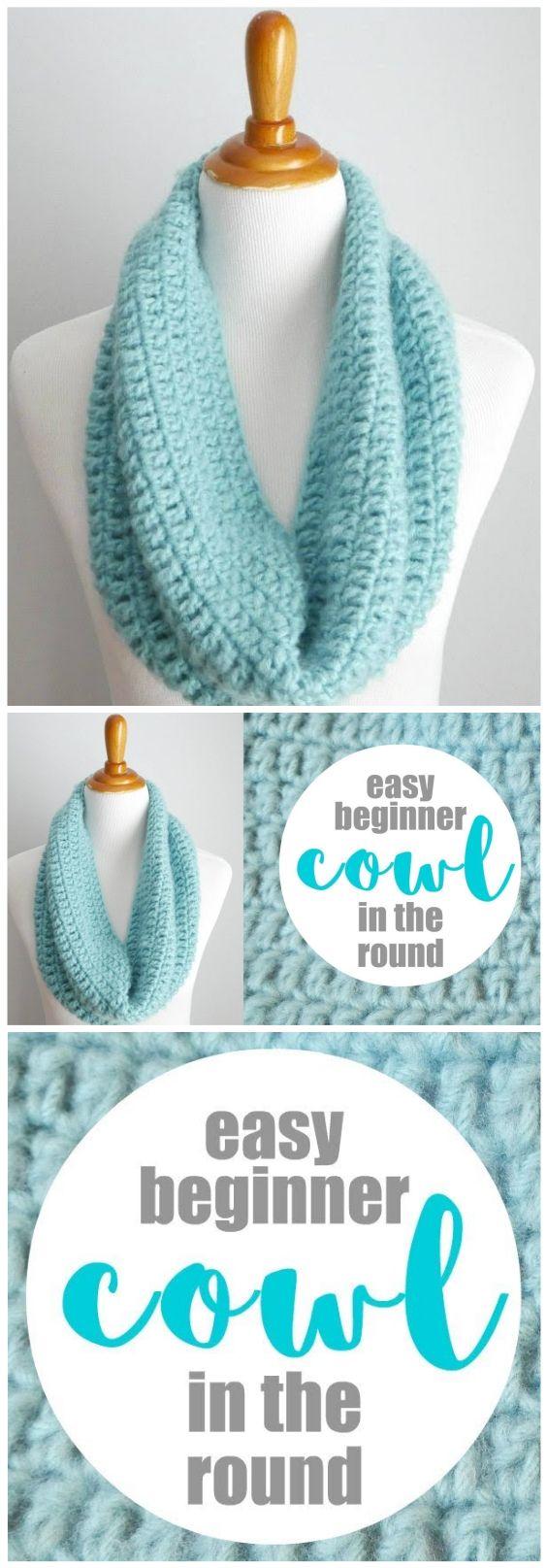 One Hour Cowl Crochet Pattern #crochetscarves