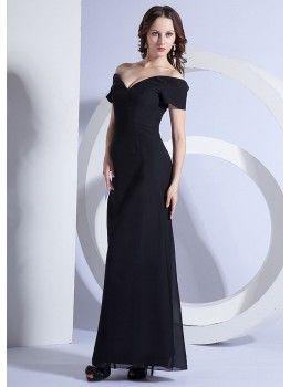 Sexy Off-the-shoulder Black Mother's Wedding Dress MBD1510001
