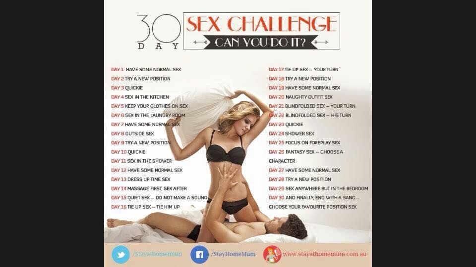 30 day sex challenge website