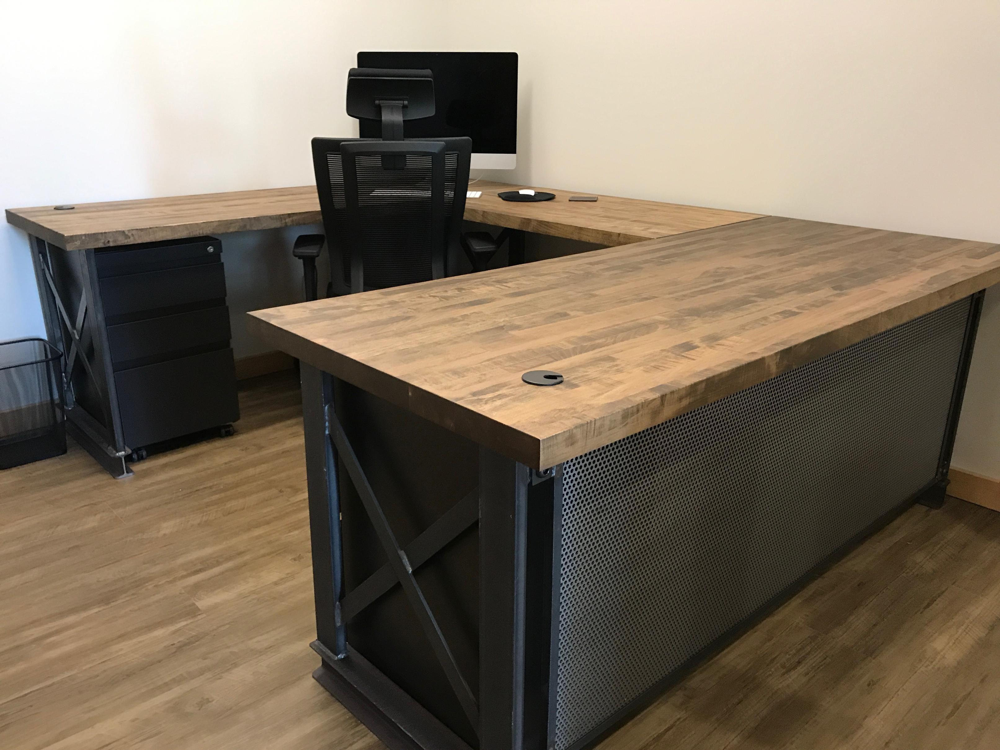 Executive Carruca Office Desk U Shape Image 0 U Shaped Office Desk Wooden Office Desk Rustic Office Desk