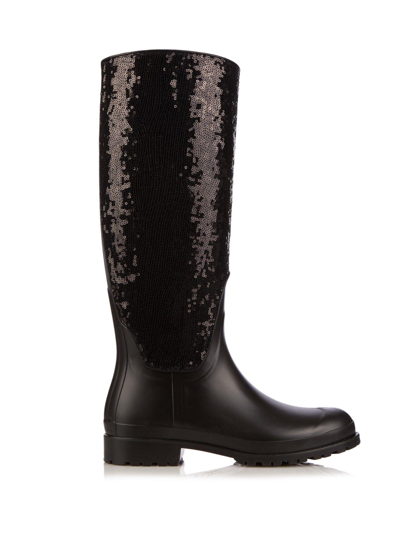 Festival sequin rubber boots   Saint Laurent   MATCHESFASHION.COM