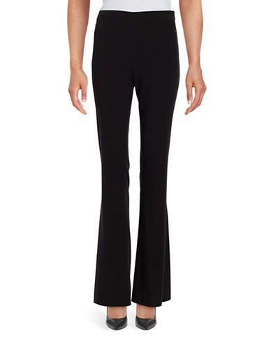 T Tahari Form-Fitting Flared Pants Women's Black 14