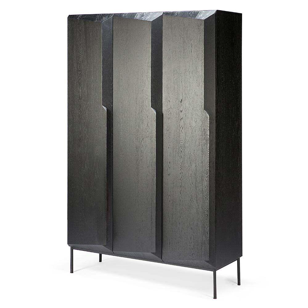 Stairs doors cupboard black oak in furnishings storage