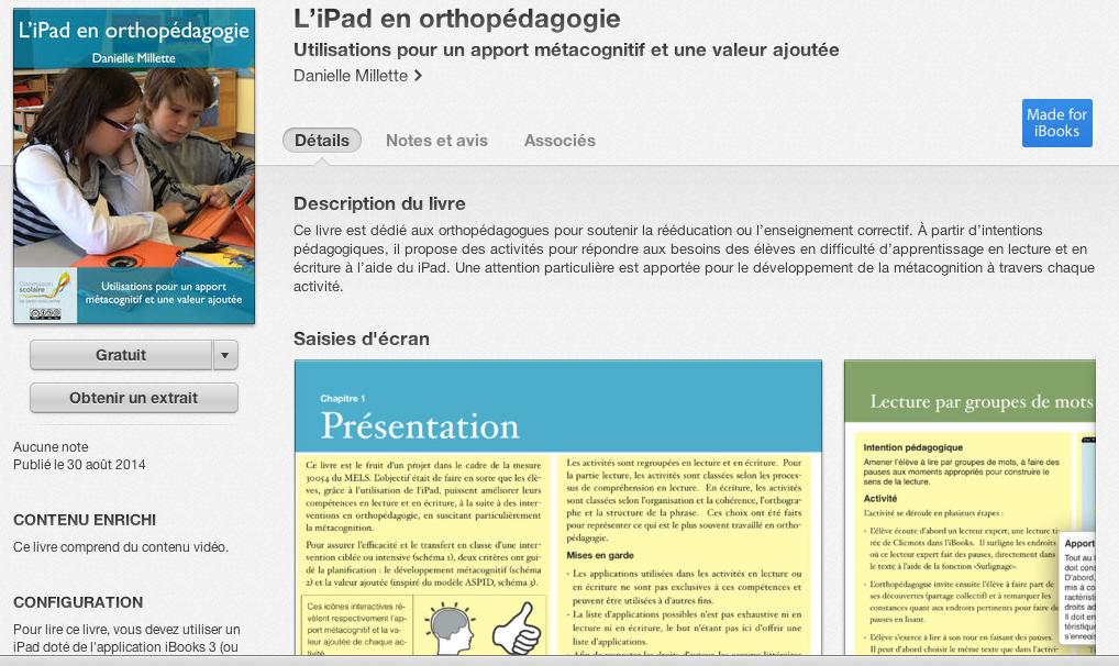 """Wow! Merci! """"@DanMillette: «L'iPad en orthopédagogie» disponible dans le iBookstore http://monurl.ca/ibook pic.twitter.com/kkZKxpmYS3"""""""