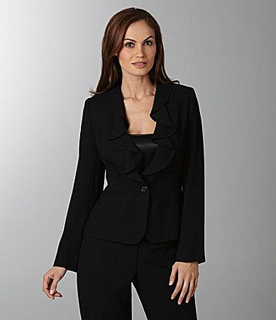 Peter Nygard Rufflecollar Jacket Dillards Clothes Jackets For Women Blazer Jackets For Women