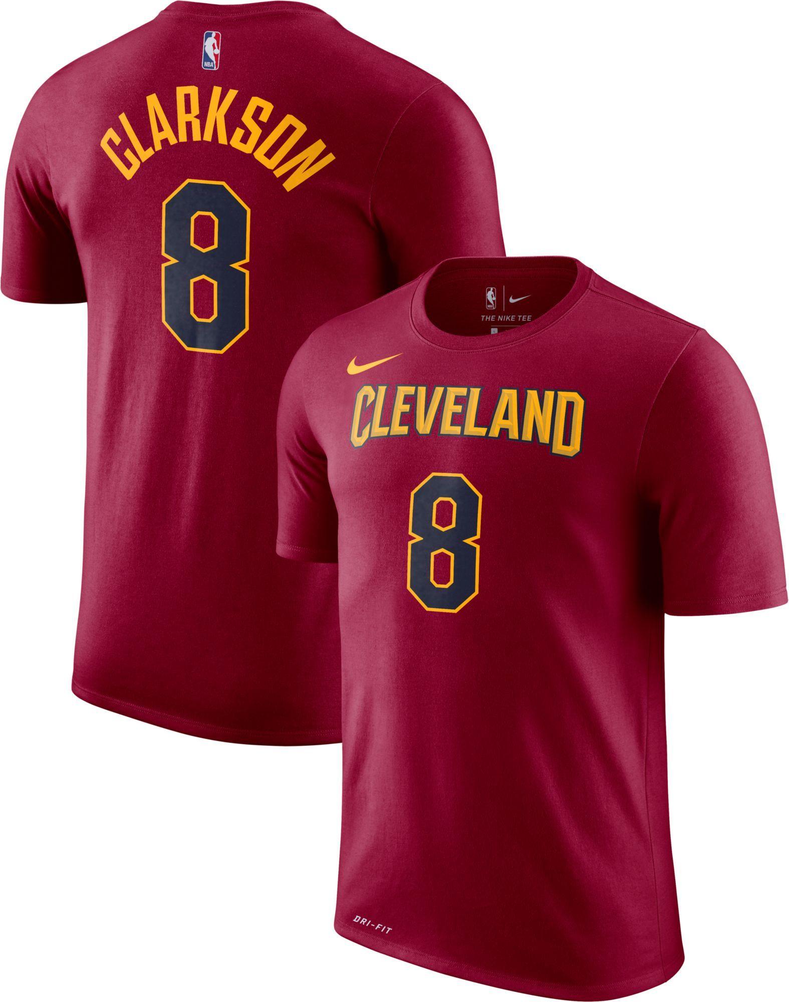 8d795b4d7f6 Nike Youth Cleveland Cavaliers Jordan Clarkson #8 Dri-FIT Burgundy T-Shirt,  Boy's, Size: Medium, Red