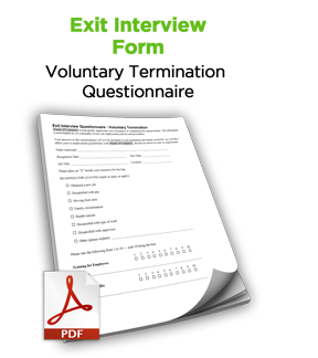 Exit Interview Form Free Hr Tool Discipline Termination