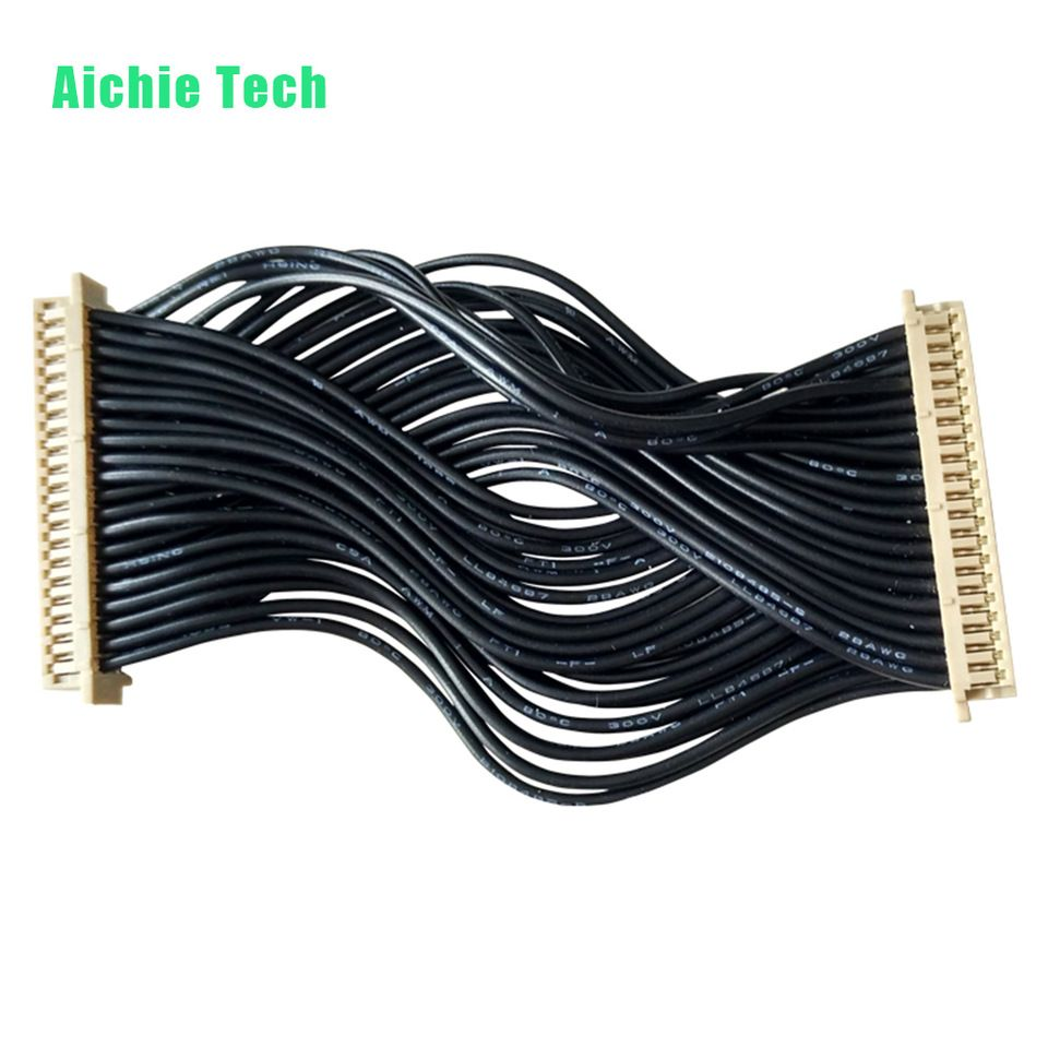 1.25 mm Pitch wire loom cable harness assembly with 40 pin connector ...