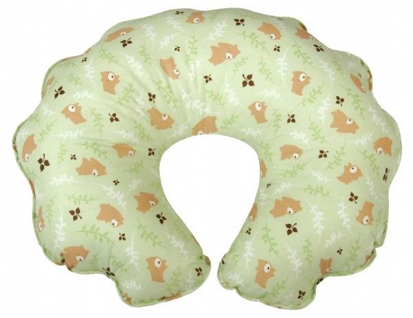 Leachco Cuddle-U Positioning Nursing Pillow Green Bears 045516137895 from The Baby's Gallerie