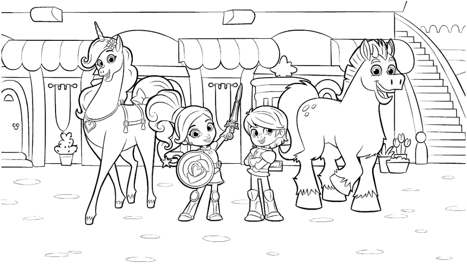 Nella The Princess Knight Drawing Pictures Knight Drawing Pictures To Draw Nick Jr Coloring Pages