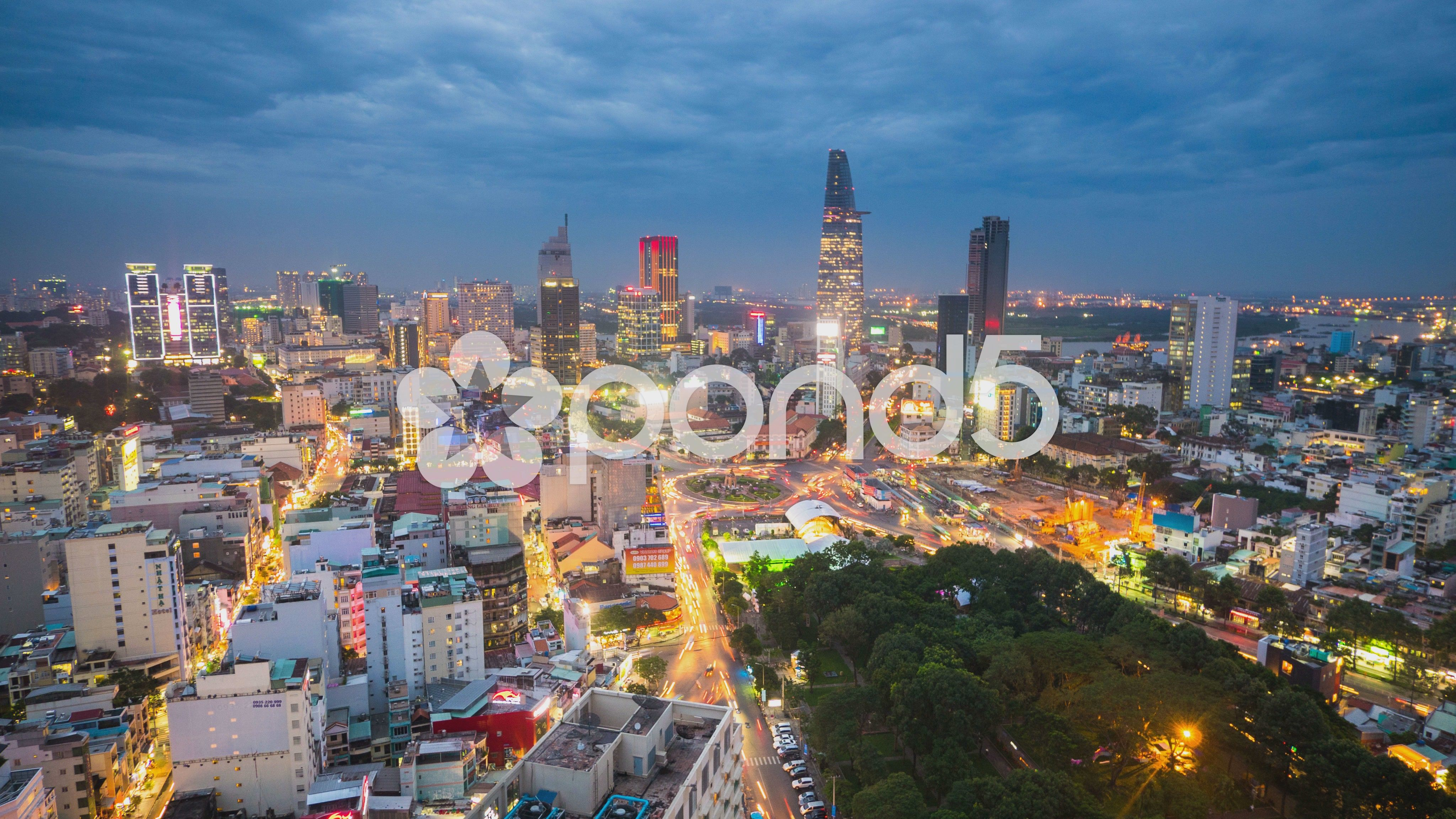 Timelapse of Ho Chi Minh city at Night Stock Footage,Chi