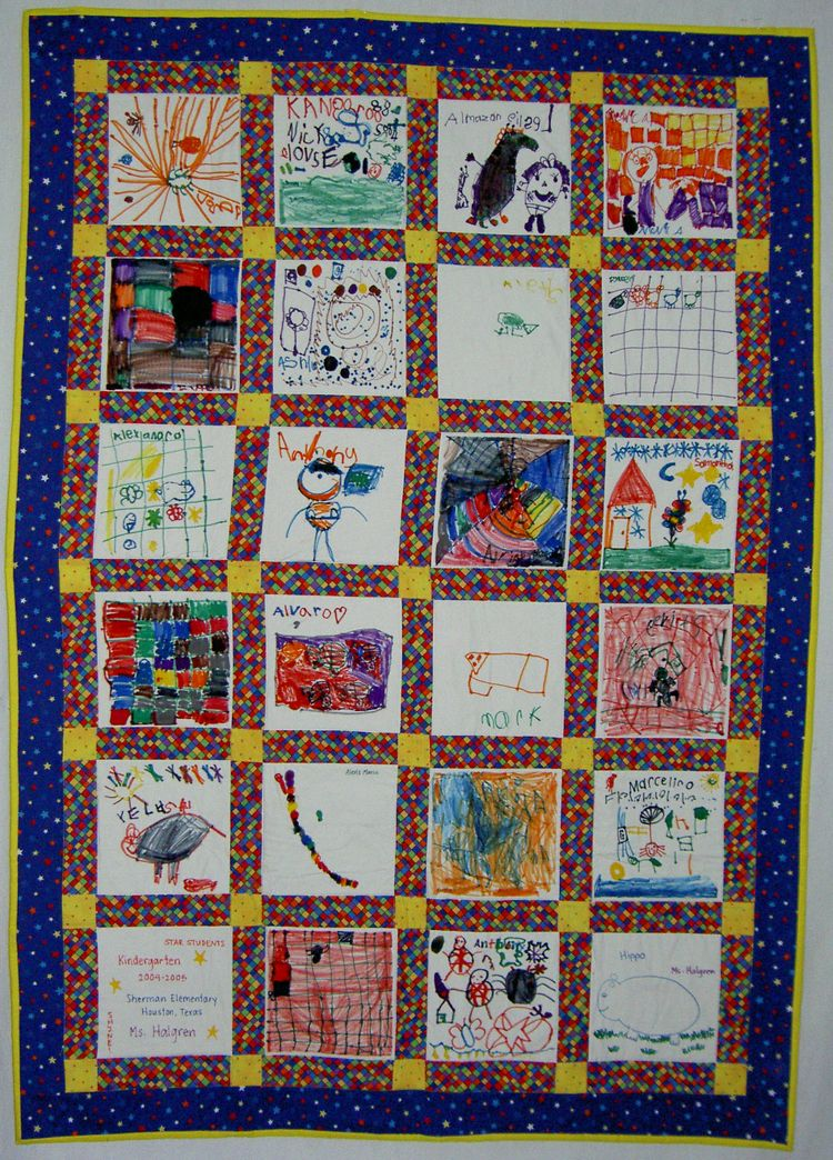 fabric marker quilts | or markers are great for children to use to ... : classroom quilt ideas - Adamdwight.com