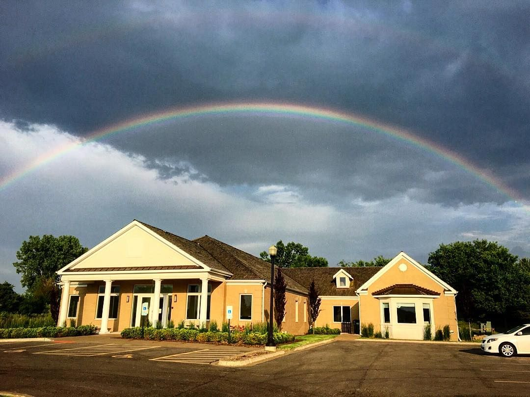 Not one of our poolsbut this is our new headquarters in South Barrington. Believe it or not this picture was taken the first day we moved into the new office. #barringtonpools #office #headquarters #rainbow #doublerainbow #photo #photooftheday #igdaily #photography #art #sky #skyliner #building #amazing #summer #2016 #new #realshit #wow #sun #beautiful #instadaily #instacooll #instalike