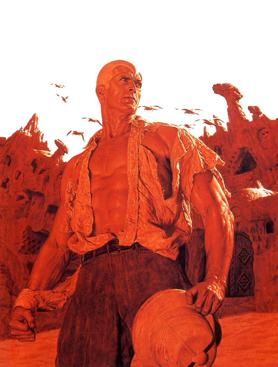 James Bama's Doc Savage, I loved reading these books when I was a kid and I loved the cover art