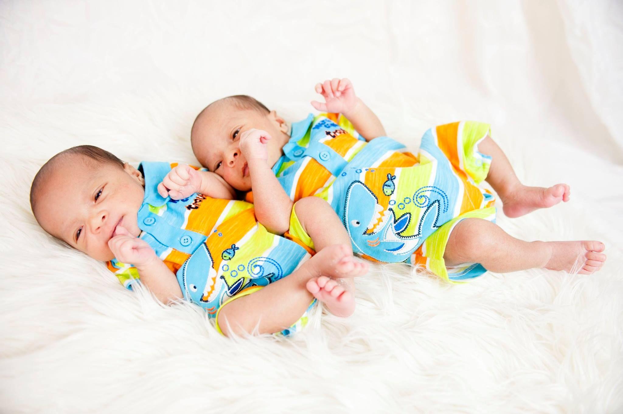 Blasian twin babies ❤