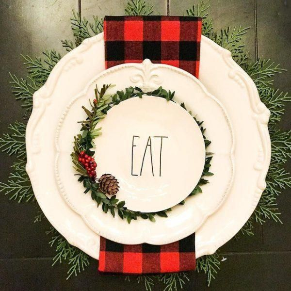 Working on place settings today. This is the first one Yay or Nay? I'll post a few more later on. Plates are from @homegoods placemat is from @pier1 , napkins are from @marshalls and the little vine wreath is from $$$section @target @raedunn