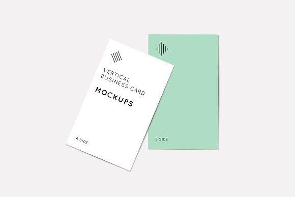 Vertical Business Card Mockups Business Card Mock Up Vertical Business Cards Free Business Card Mockup
