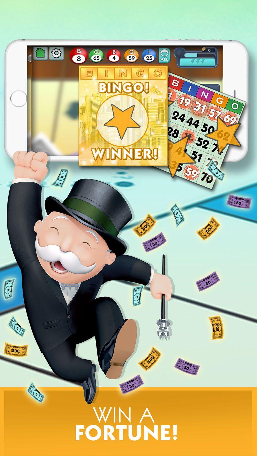 MONOPOLY Bingo! BoardEntertainmentiosCasino 3d design