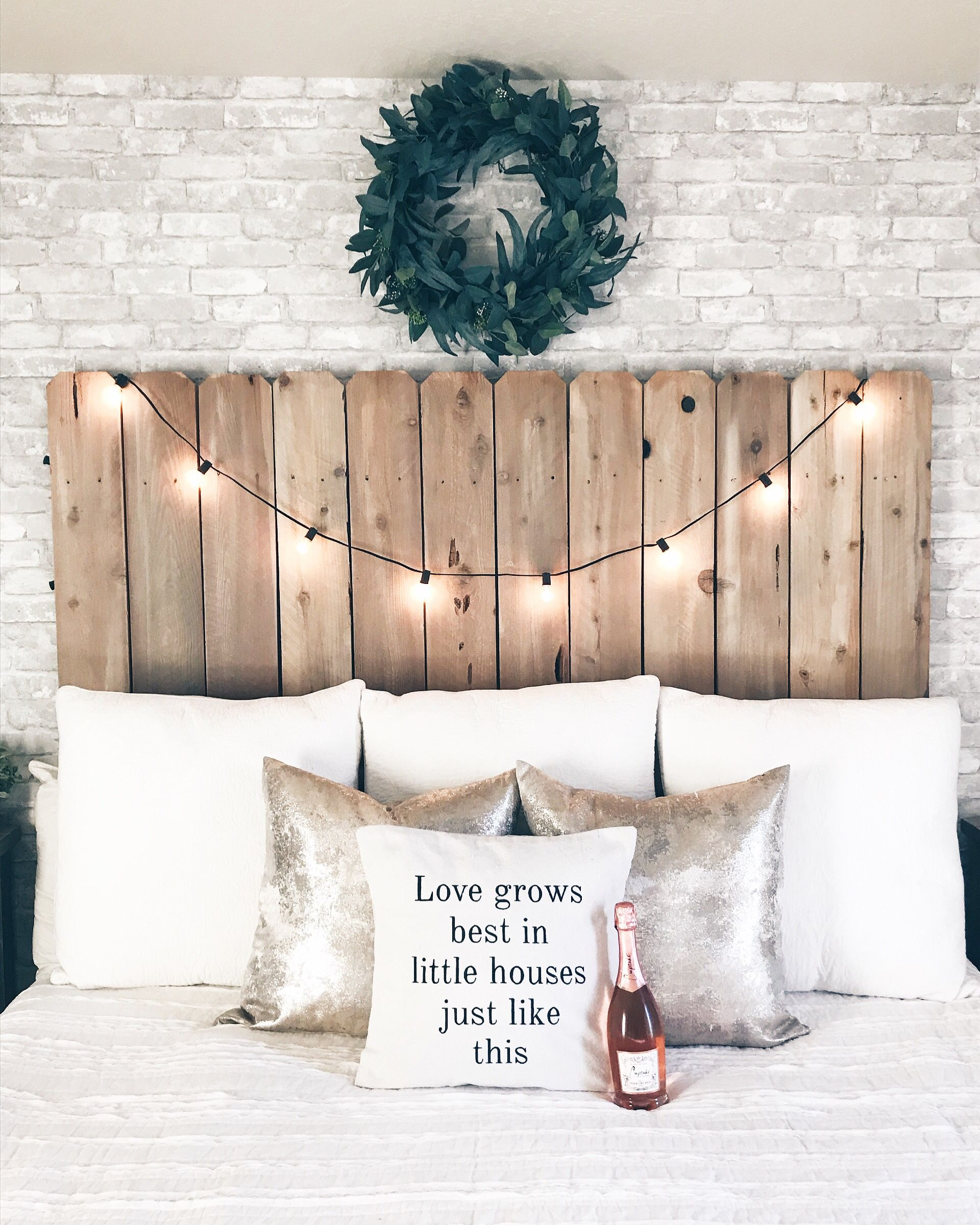 Diy Wooden Headboard For Under 100 Everyday Kacie Diy Wood Headboard Diy Headboard Wooden Wooden Headboard