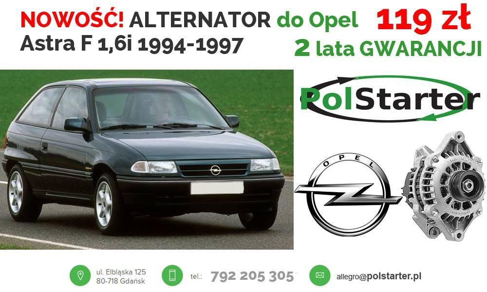 Alternator Opel Astra F 1 4 Vectra A 1 8i Vectra B 6775267701 Oficjalne Archiwum Allegro Alternator Opel F 1
