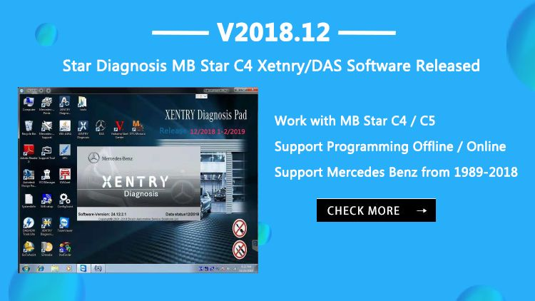 VOBDII COM has updated the Xentry software to 2018 12V