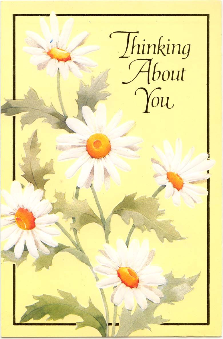 Images Of Thinking Of You Thinking Of You Greeting Card With White