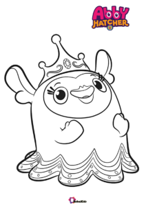Abby Hatcher Nick Jr Television Series Coloring Page Cartoon Coloring Pages Coloring Pages Small Canvas Art